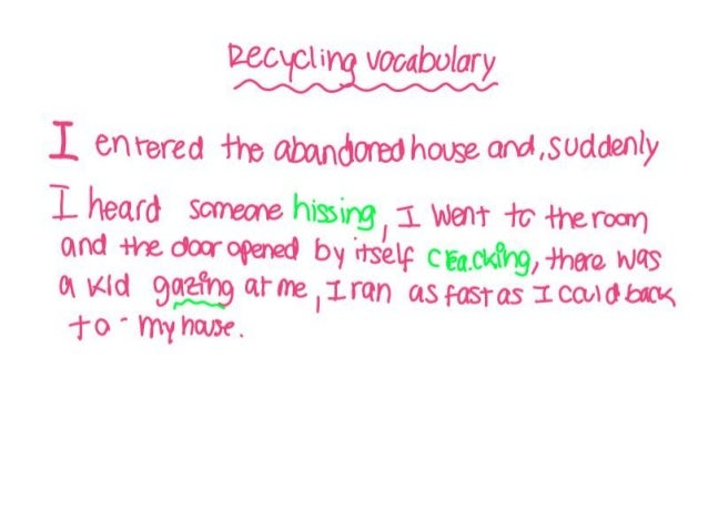 Recycling vocabulary