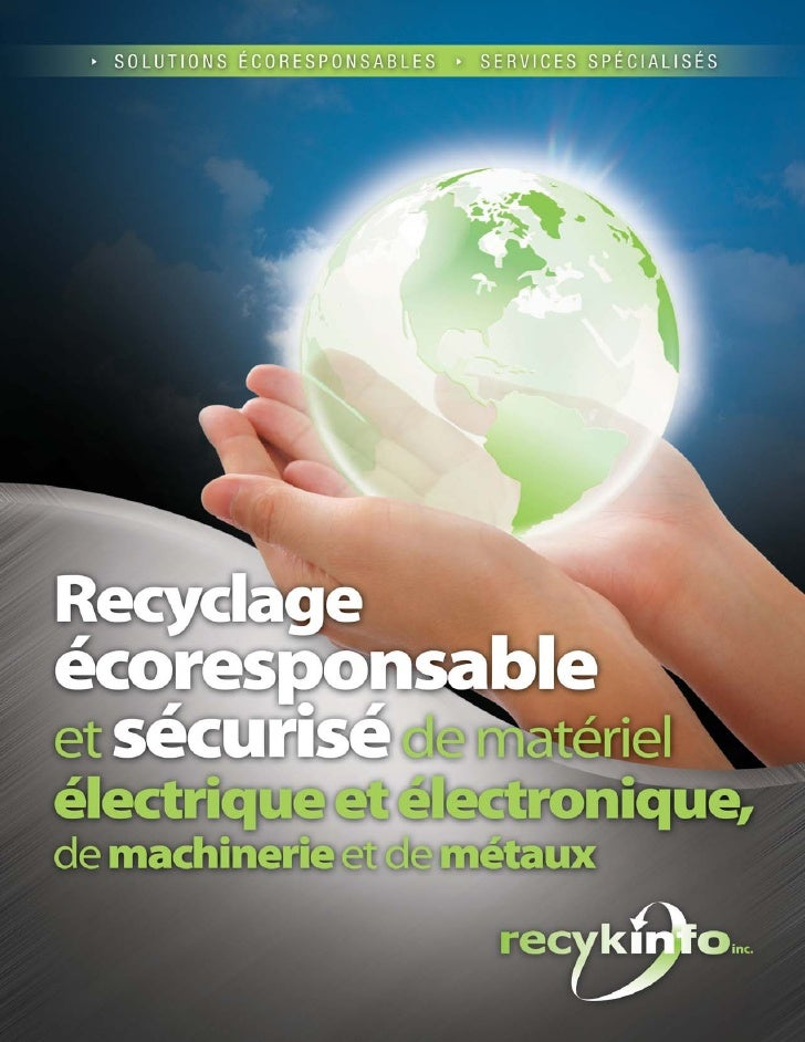 Bien plus qu'un simple recycleur...RECYKINFO en brefSERVICES                                                          DEST...