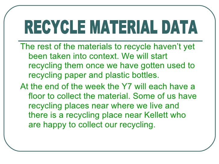 Persuasive thesis on recycling