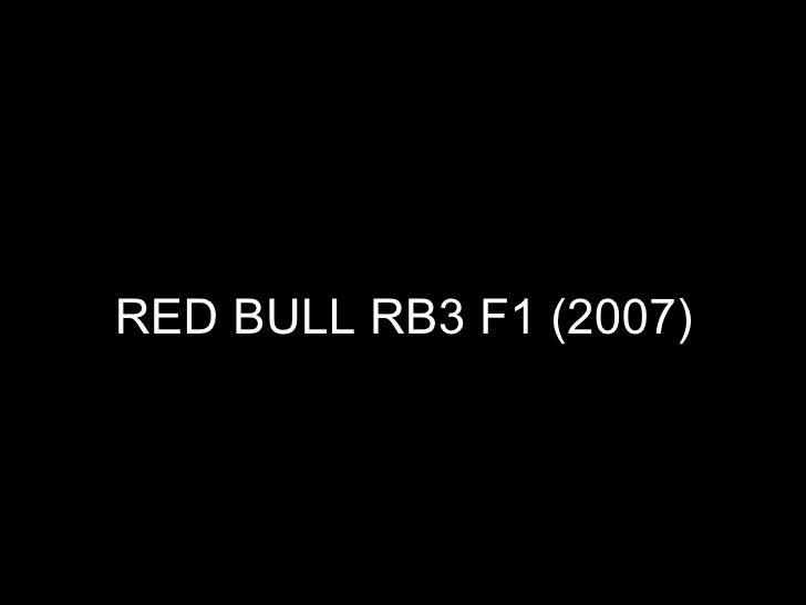 RED BULL RB3 F1 (2007)