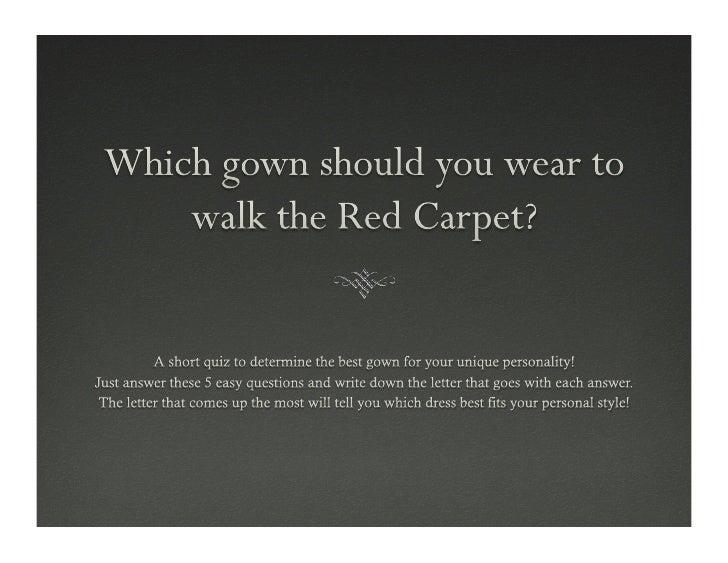 Red Carpet Fashion Quiz