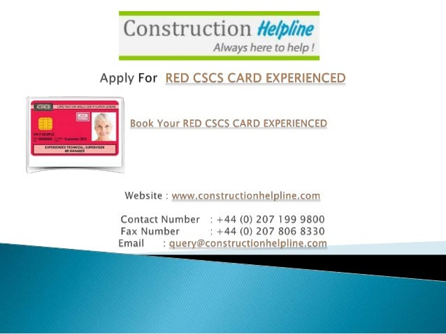 Red cscs-card-experienced