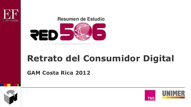 Resumen de EstudioRetrato del Consumidor DigitalGAM Costa Rica 2012