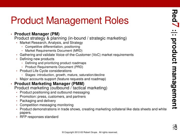 Red Introduction To Product Management - Market requirements document