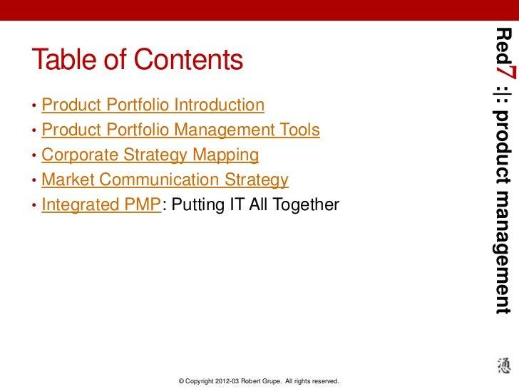 Red7 Product Portfolio Management Slide 3