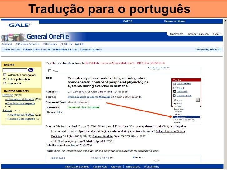 Tradução para o português