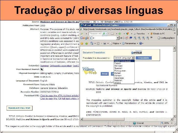 Tradução p/ diversas línguas