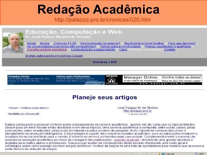 Redação Acadêmica   http://palazzo.pro.br/cronicas/020.htm