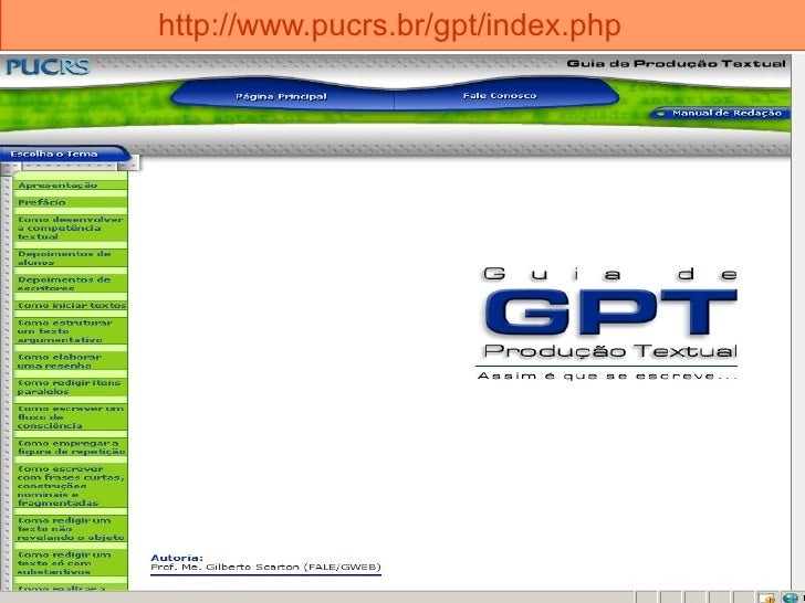 http://www.pucrs.br/gpt/index.php