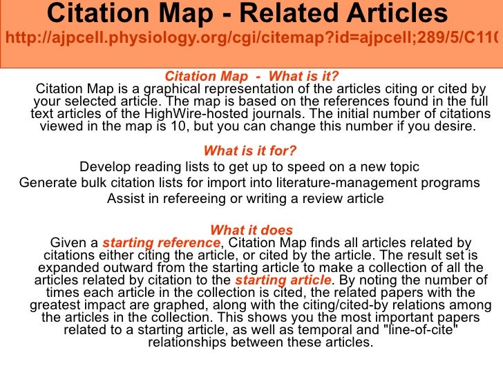 Citation Map - Related Articles  http://ajpcell.physiology.org/cgi/citemap?id=ajpcell;289/5/C1105   <ul><li>Citation Map  ...