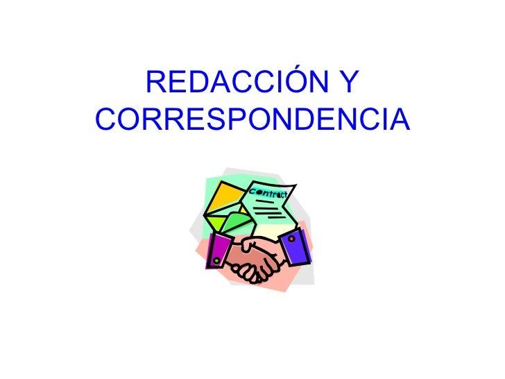 REDACCIÓN Y CORRESPONDENCIA