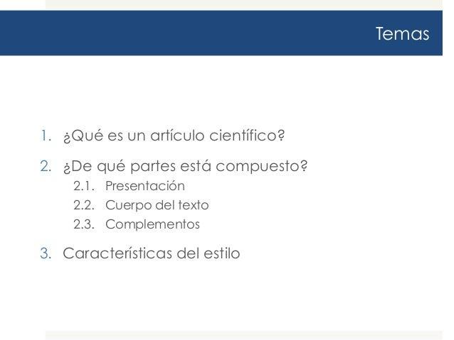 Guía para la elaboración de artículos científicos Slide 2