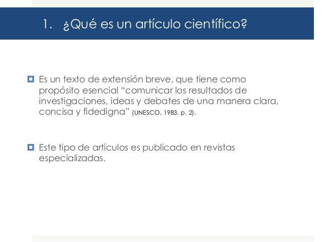 Guía para la elaboración de artículos científicos Slide 3