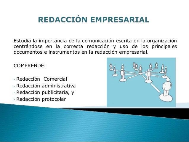 Estudia la importancia de la comunicación escrita en la organizacióncentrándose en la correcta redacción y uso de los prin...