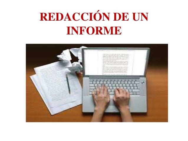 Redacción de un informe Slide 2