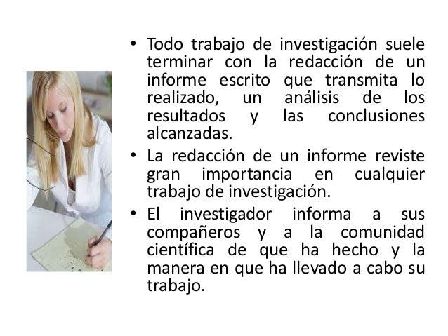 Redacción de un informe Slide 3