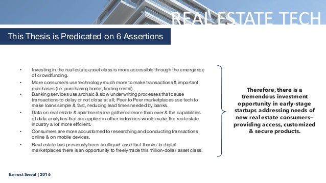 Introduction in dissertation proposal real estate
