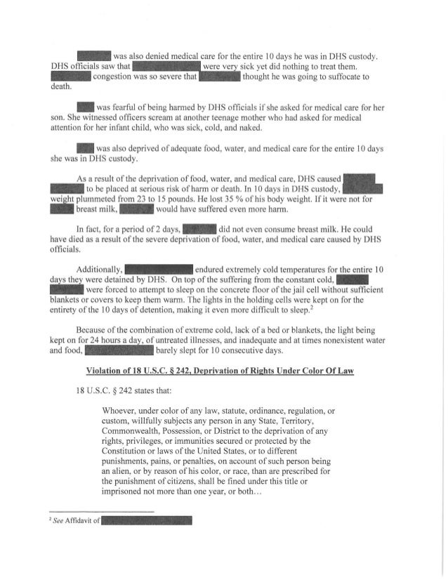 Redacted request for criminal prosecution Slide 2