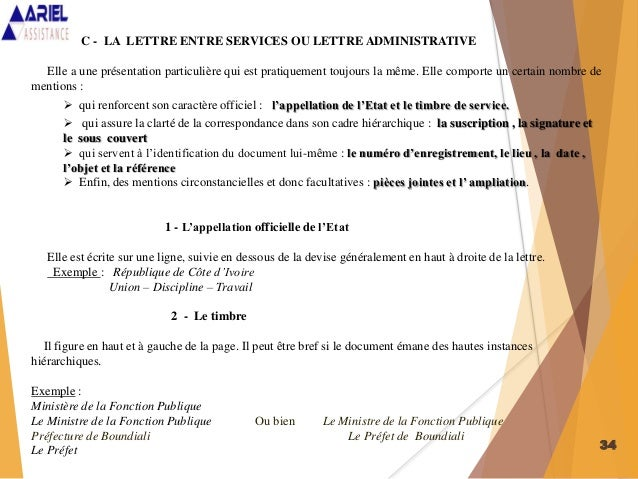 exemple de courrier soit transmis
