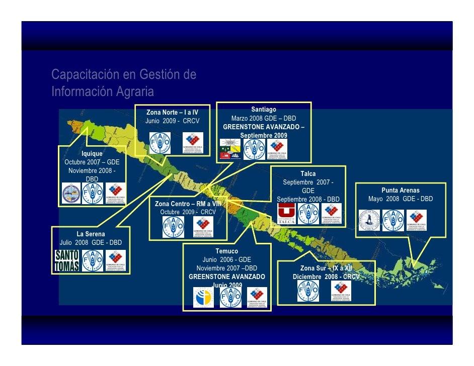 Capacitación en Gestión de Información Agraria                            Zona Norte – I a IV                   Santiago  ...
