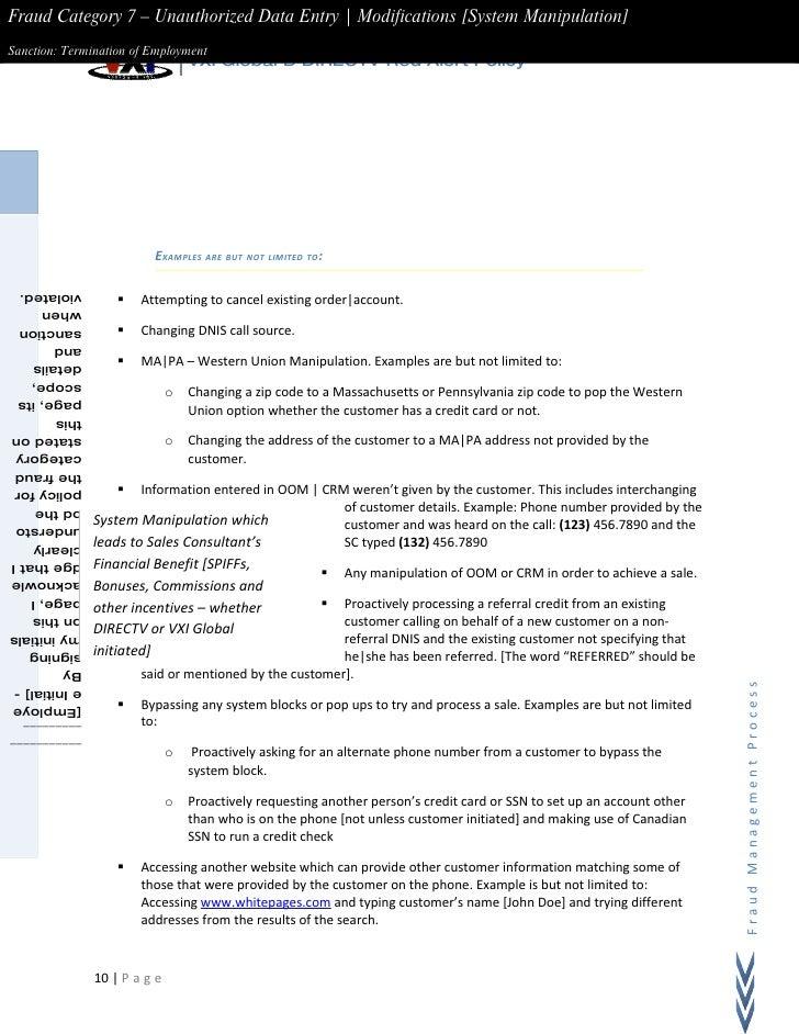 Sample Process Documentation - Process documentation example
