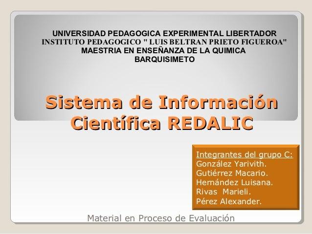 "UNIVERSIDAD PEDAGOGICA EXPERIMENTAL LIBERTADORINSTITUTO PEDAGOGICO "" LUIS BELTRAN PRIETO FIGUEROA""        MAESTRIA EN ENSE..."