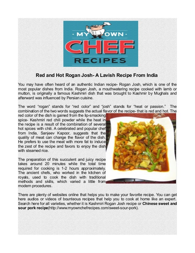 Red and hot rogan josh a lavish recipe from india red and hot rogan josh a lavish recipe from india you may have often heard forumfinder Gallery