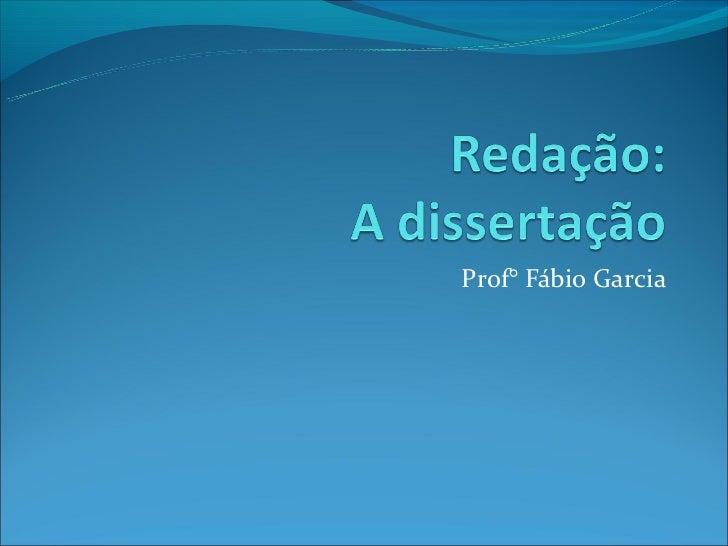 Prof° Fábio Garcia