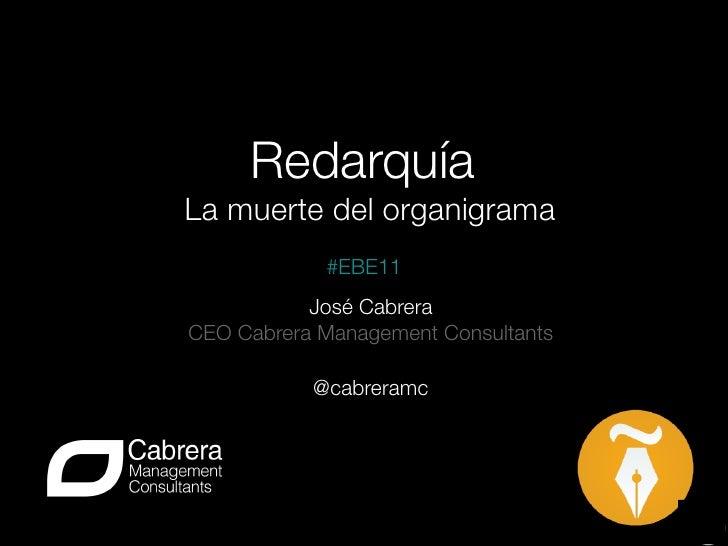Redarquía                        La muerte del organigrama            #EBE11           José CabreraCEO Cabrera Management ...