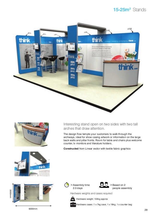 Modular Exhibition Stands Tall : Redblu graphics modular exhibition display stands brochure