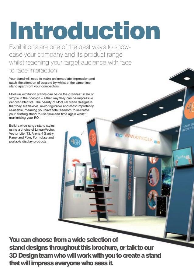 Exhibition Stand Design Cost : Redblu graphics modular exhibition display stands brochure