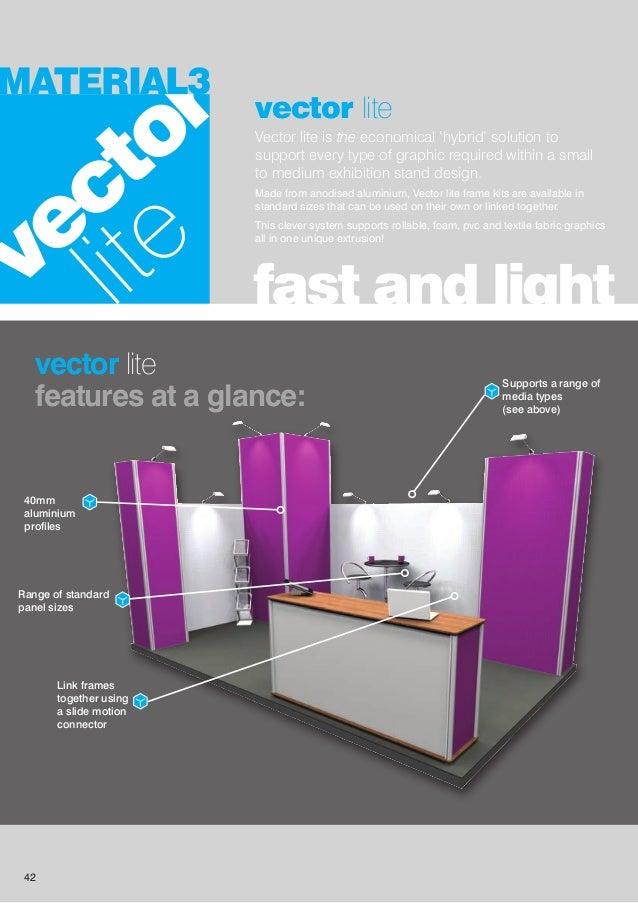 Modular Exhibition Stand Vector : Redblu graphics modular exhibition display stands brochure