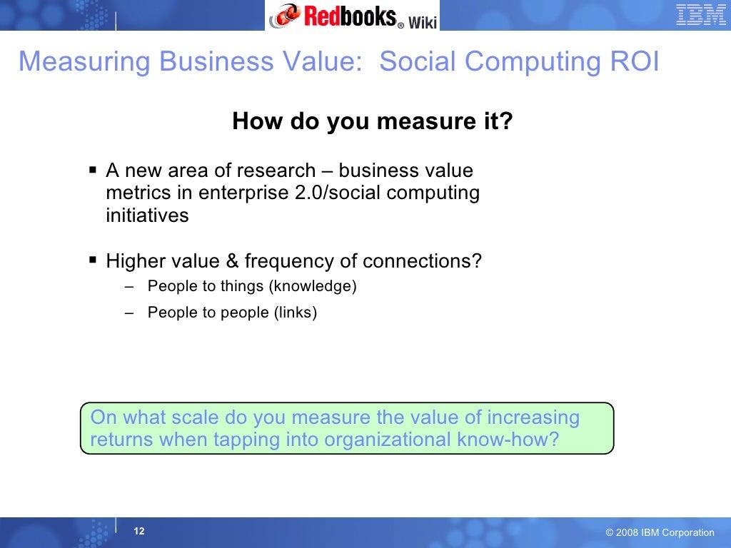 Measuring Business Value Social Computing
