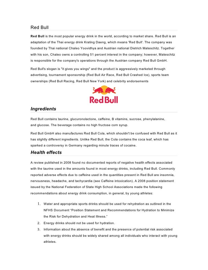red bull business model Starting a business was the last thing on sean hackney's mind when he sat down to write a business planhoping to persuade a soft drink company to hire him, hackney scripted a plan for taking on.