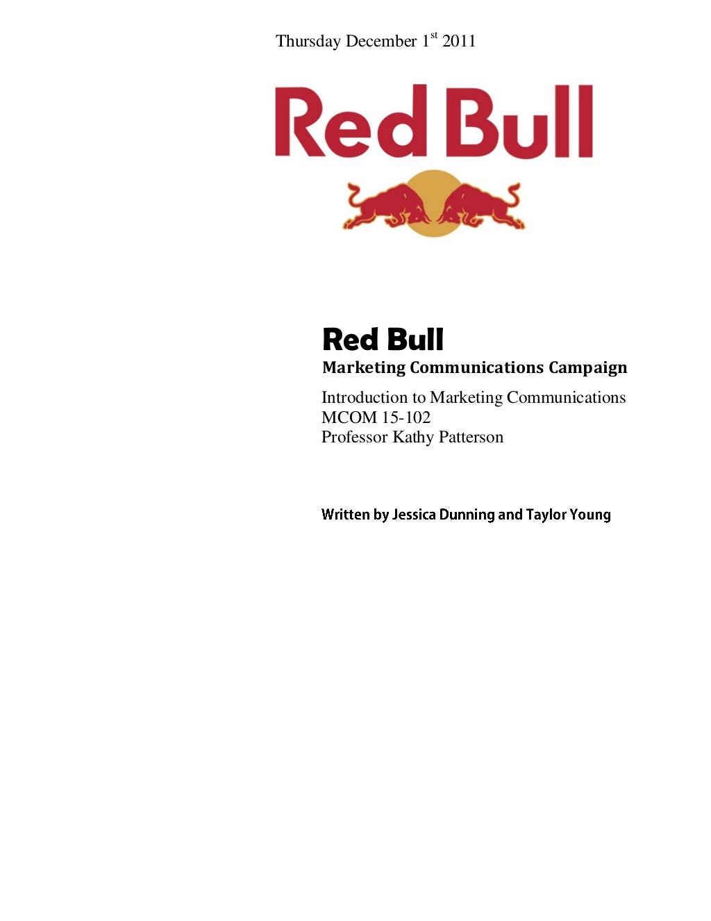 Red Bull Marketing Campaign