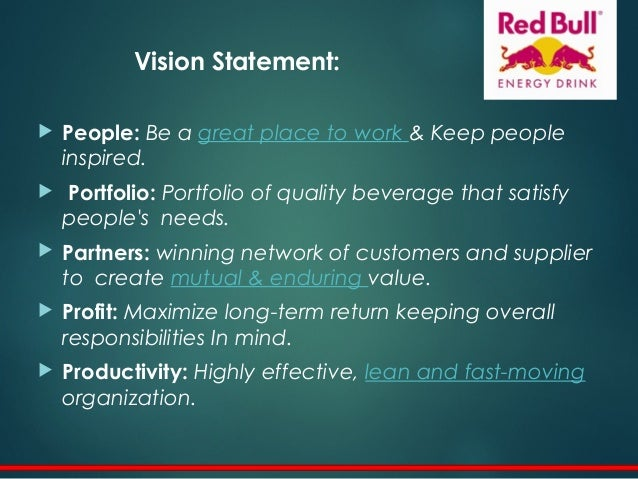 Redbull vision and mission Research paper Academic Writing Service ...