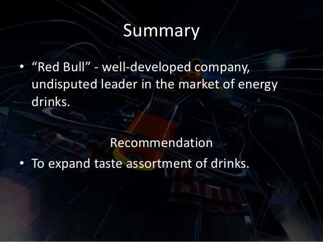 marketing recommendations for red bull essay Cmo dana anderson and the marketing team behind the oreo phenomenon discuss how they made the  how an old cookie became a modern marketing.