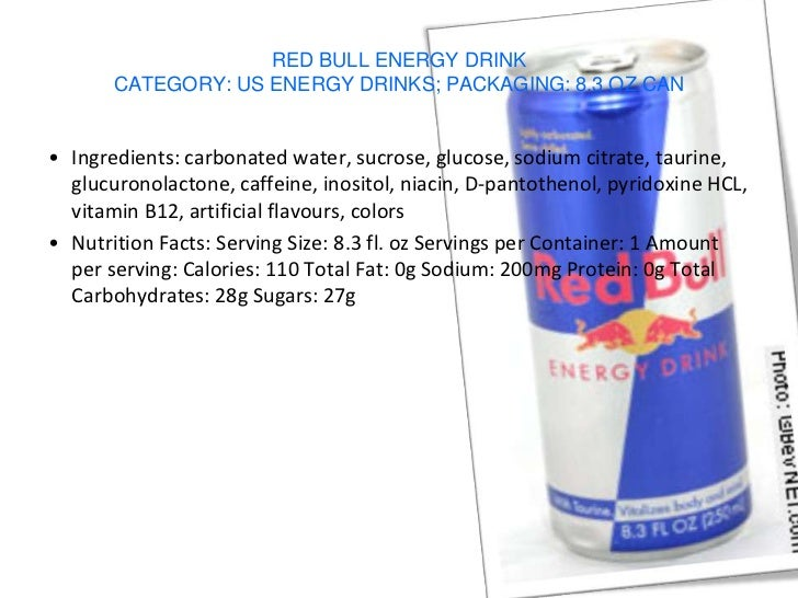 What is the ingredients in red bull