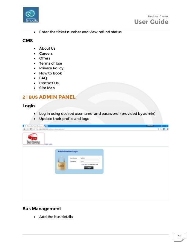 Redbus clone script – Redbus Ticket Print