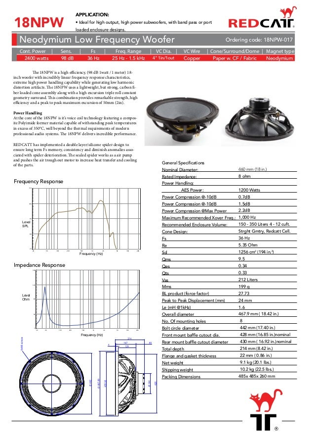 The RedCatt Transducer Product Catalog 2018