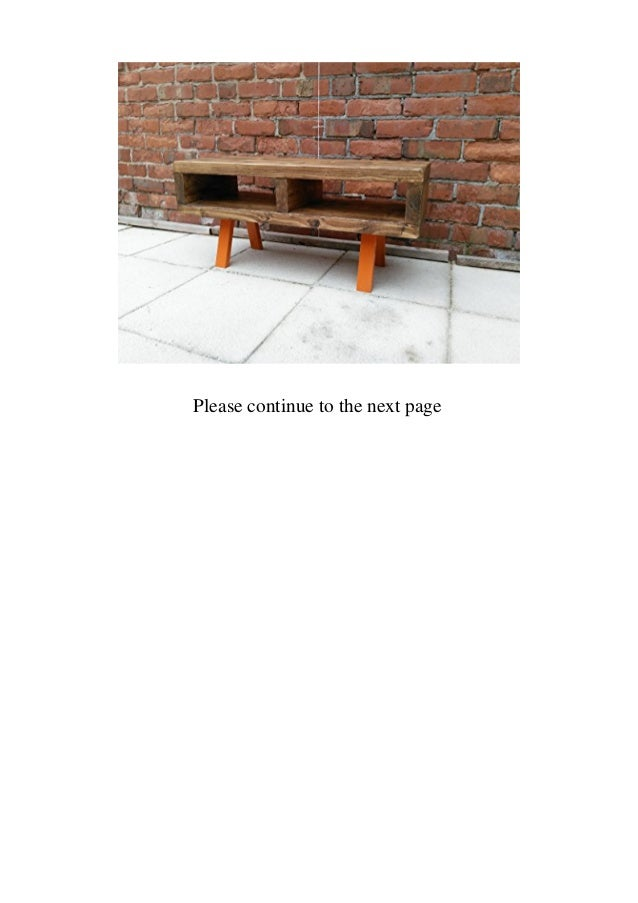 Red cottage Tv stand contemporary rustic industrial tv stand or coffee table 90 cm funky Orange legs  Slide 2
