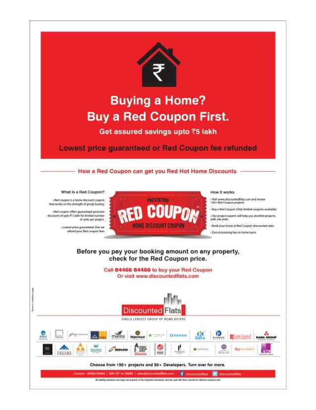 red coupon offer by discounted flats on 150 plus projects in pune