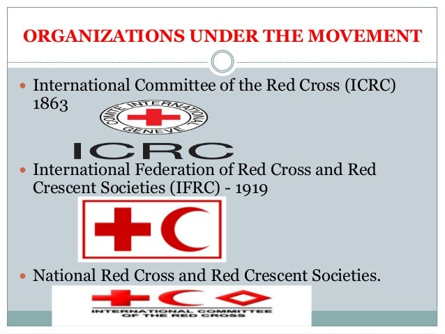 Icrc Ifrc National Societies