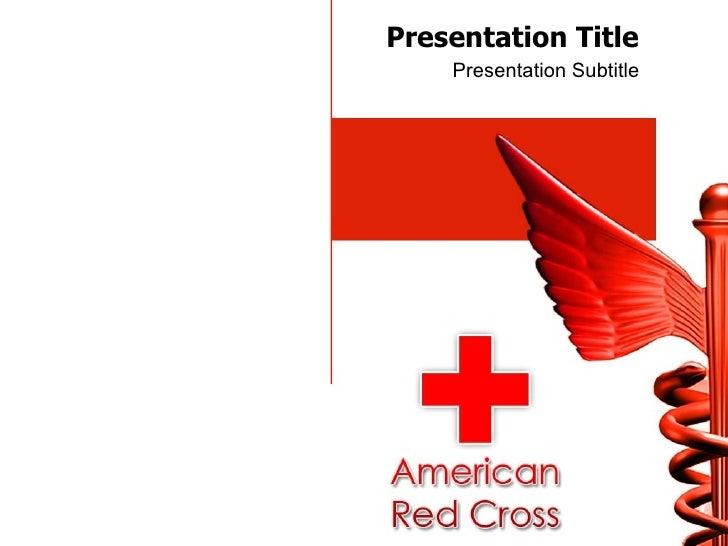 Red cross powerpoint template toneelgroepblik Image collections