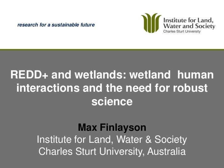 research for a sustainable futureREDD+ and wetlands: wetland human interactions and the need for robust               scie...
