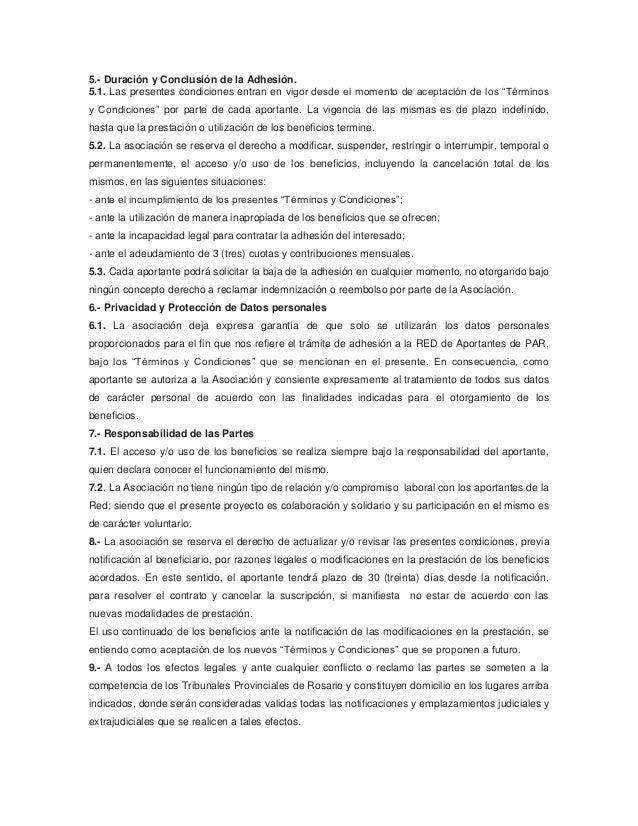 TERMINOS Y CONDICIONES Slide 2