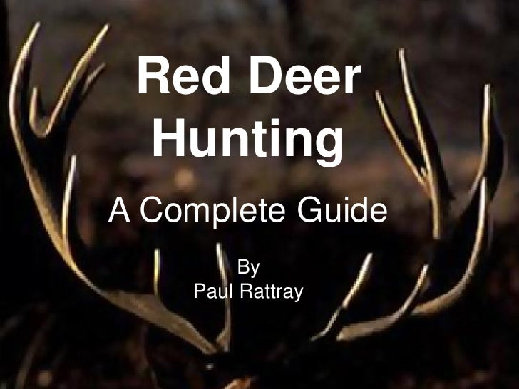 Red Deer  Hunting A Complete Guide          By     Paul Rattray