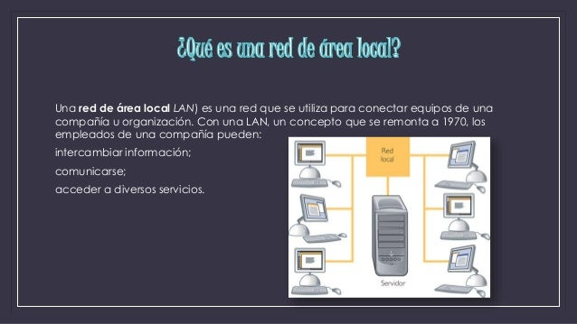 Una red de área local LAN) es una red que se utiliza para conectar equipos de una compañía u organización. Con una LAN, un...