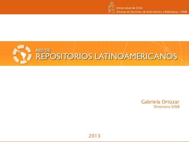 Universidad de Chile Sistema de Servicios de Información y Bibliotecas / SISIB Universidad de Chile Sistema de Servicios d...