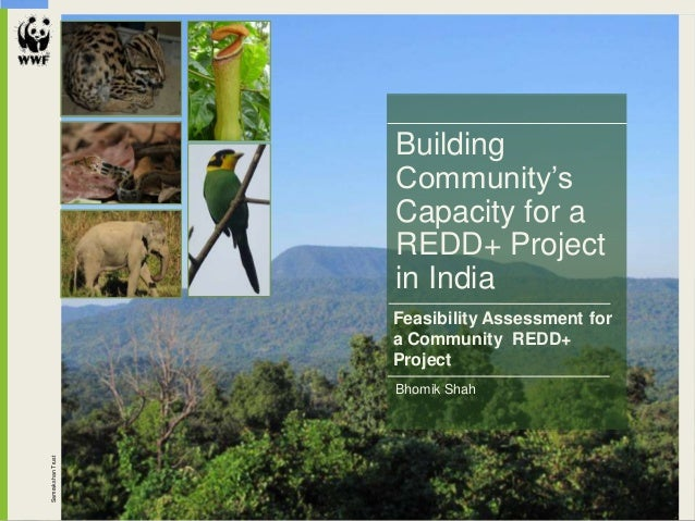 SamrakshanTrust Bhomik Shah Building Community's Capacity for a REDD+ Project in India Feasibility Assessment for a Commun...